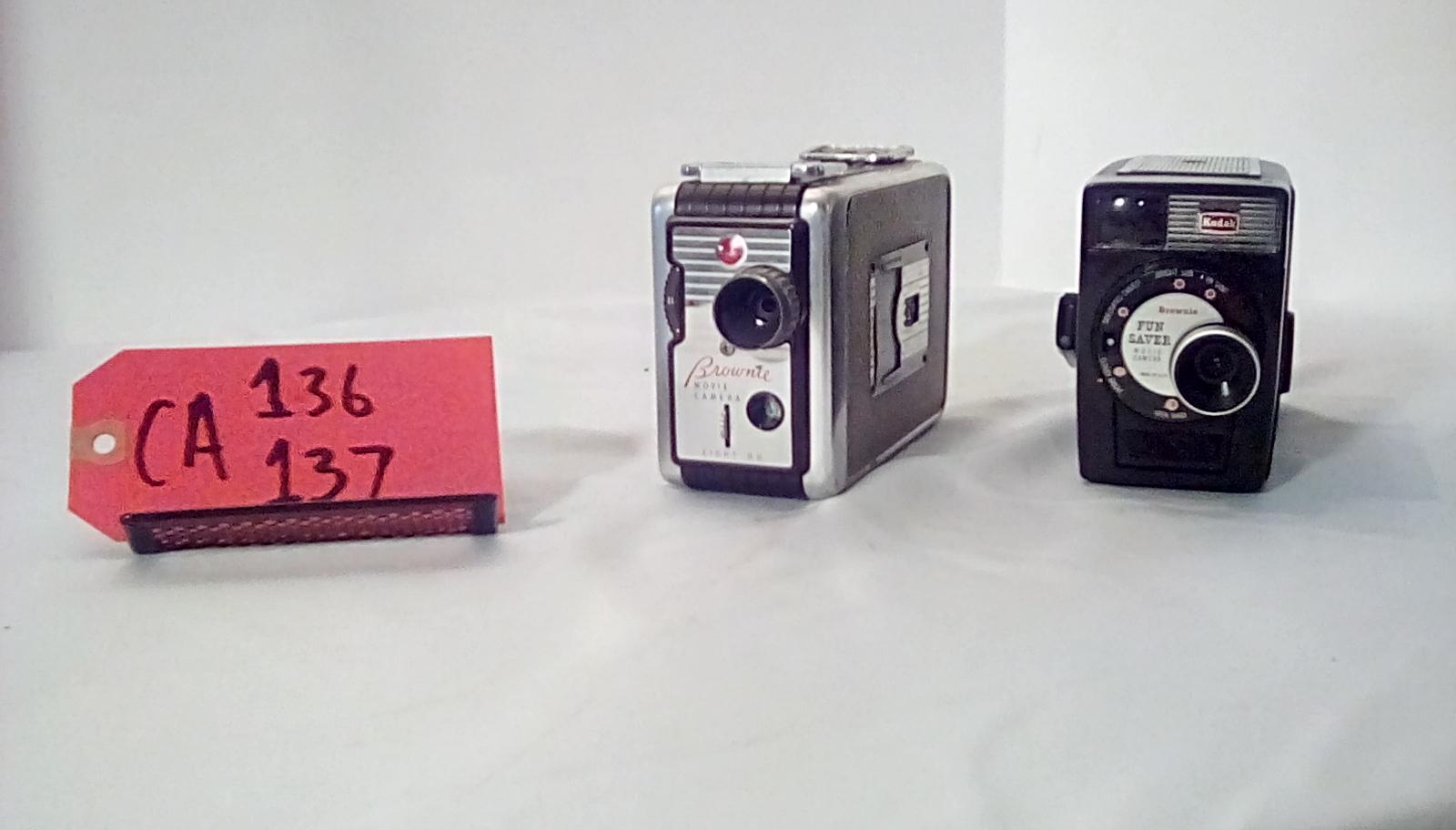 "CA136 Brownie 8MM Movie Camera, CA137 Brownie ""Fun Saver""  8MM Movie Camera"