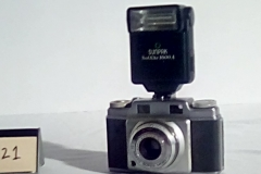 "CA121 Ansco Super w/electronic flash (Flash is compatible w/all  ""hot shoe"" connections"