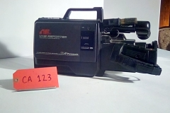 "CA123, VHS movie camera, circa 1980""s, w/tripod mount"
