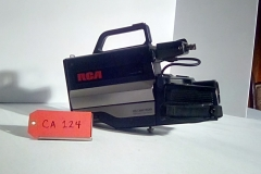 "CA124, VHS movie camera, circa 1980""s, w/tripod mount, & carry case"