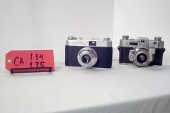 CA134 USC35 2A, 35MM , w/formed leather case,  CA135 Kodak, Kodamatic 35MM, w/formed leather case