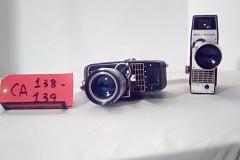 CA138 Sears & Roebuck Tower 8MM, verizoom w/wrist strap  CA139 Bell & Howell Electric eye w/leather strap