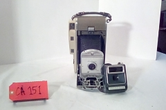 CA151 Polaroid Land camera, photo electric shutter, w/leather case