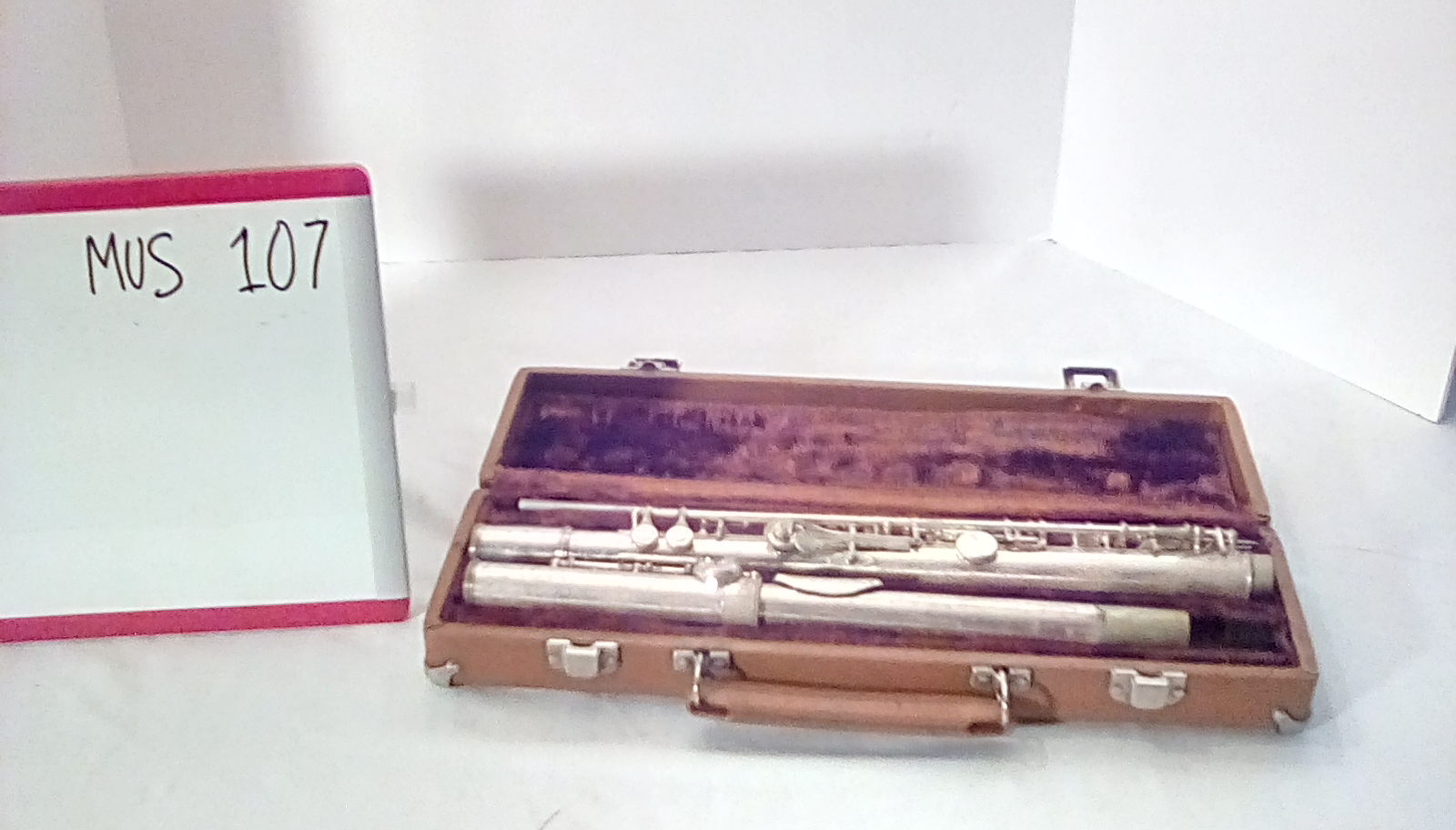 MUS107 flute in brown case