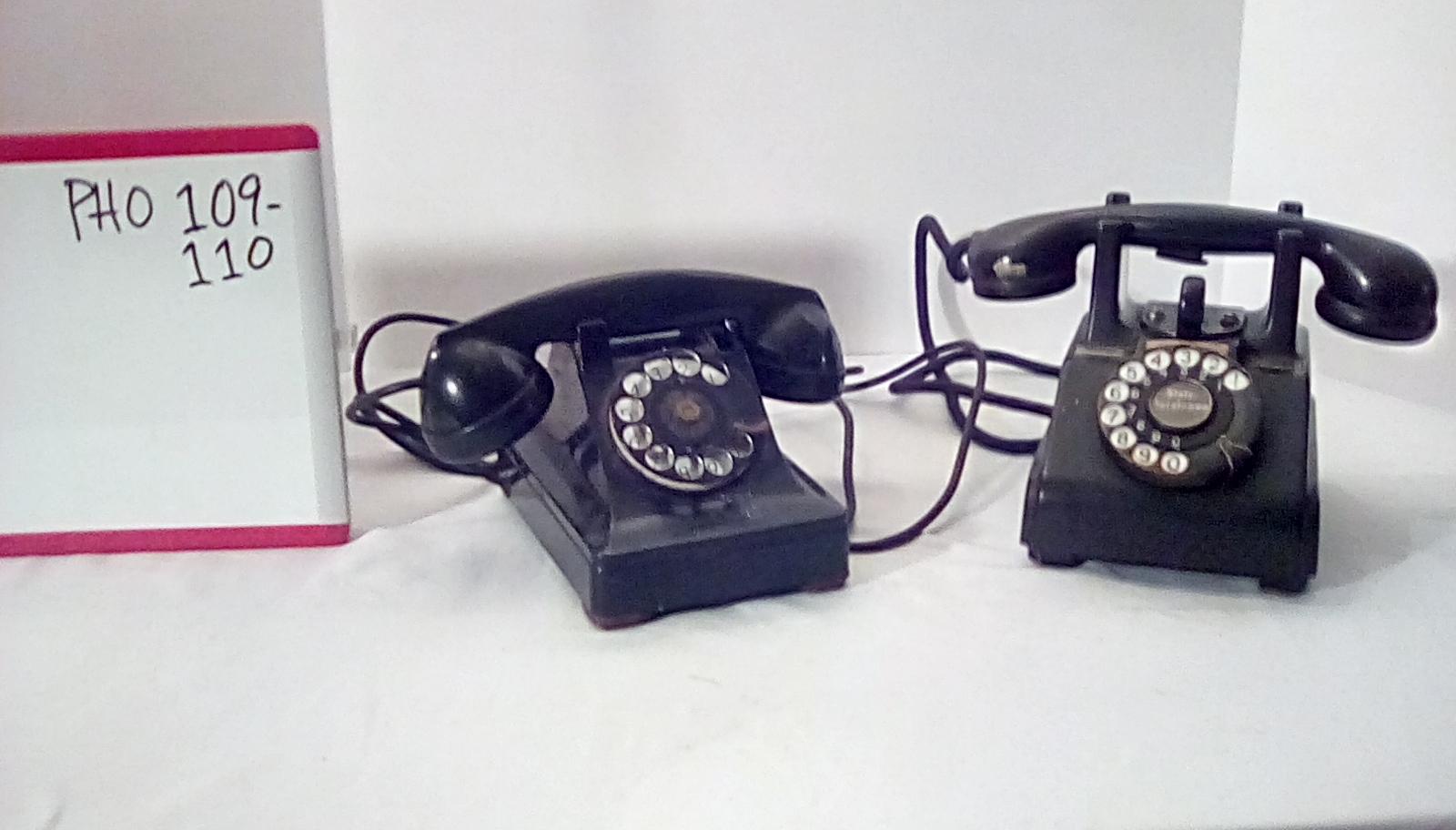 CA109 crosley classic kettle black rotary desk phone, CA110 black rotary desk phone w/raised cradle