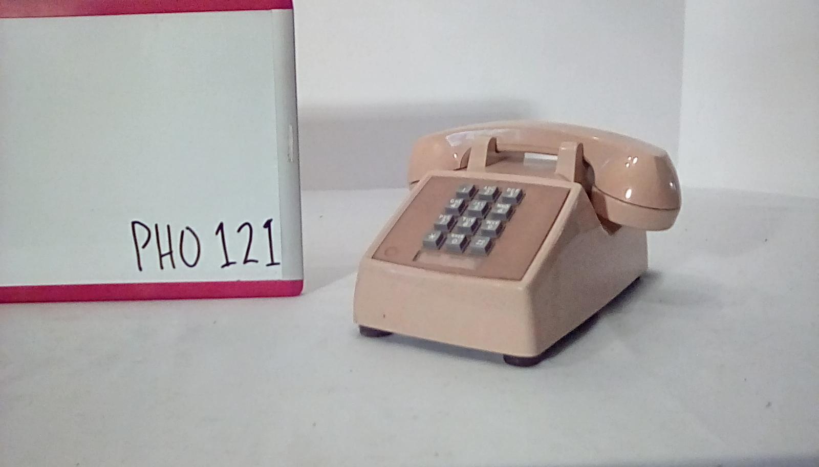 PHO121 Beige generic push button desk phone