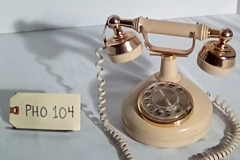 PHO104 beige rotary princess  desk phone