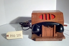PHO105 wooden crank  desk phone