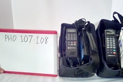 PHO107 Bell south motorola bag phone, PHO108 Bell south motorola bag phone w/green buttons