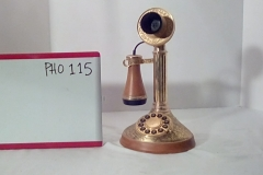 PHO115 Gold candlestick push button desk phone